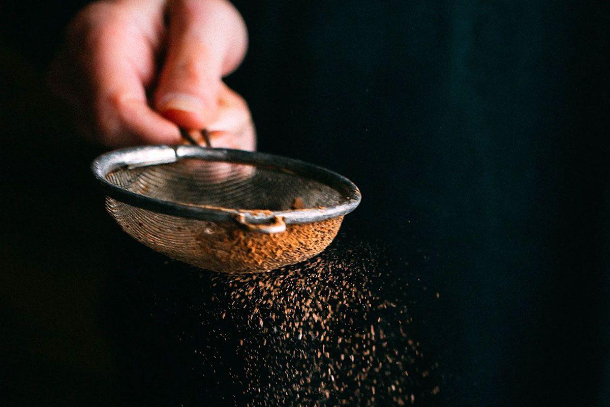 Filtering Chocolate Powder
